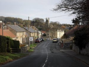 A view of the road through Belford